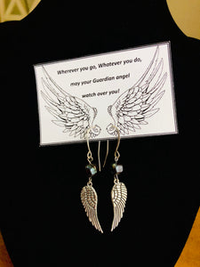 angel wing set fresh water pearls - Mystery Art & Jewelry