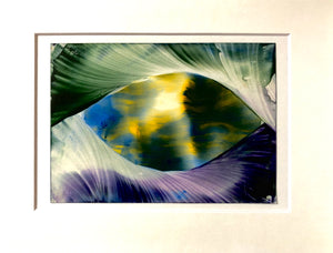 "Unique Encaustic Beeswax Painting - ""Through the looking glass """