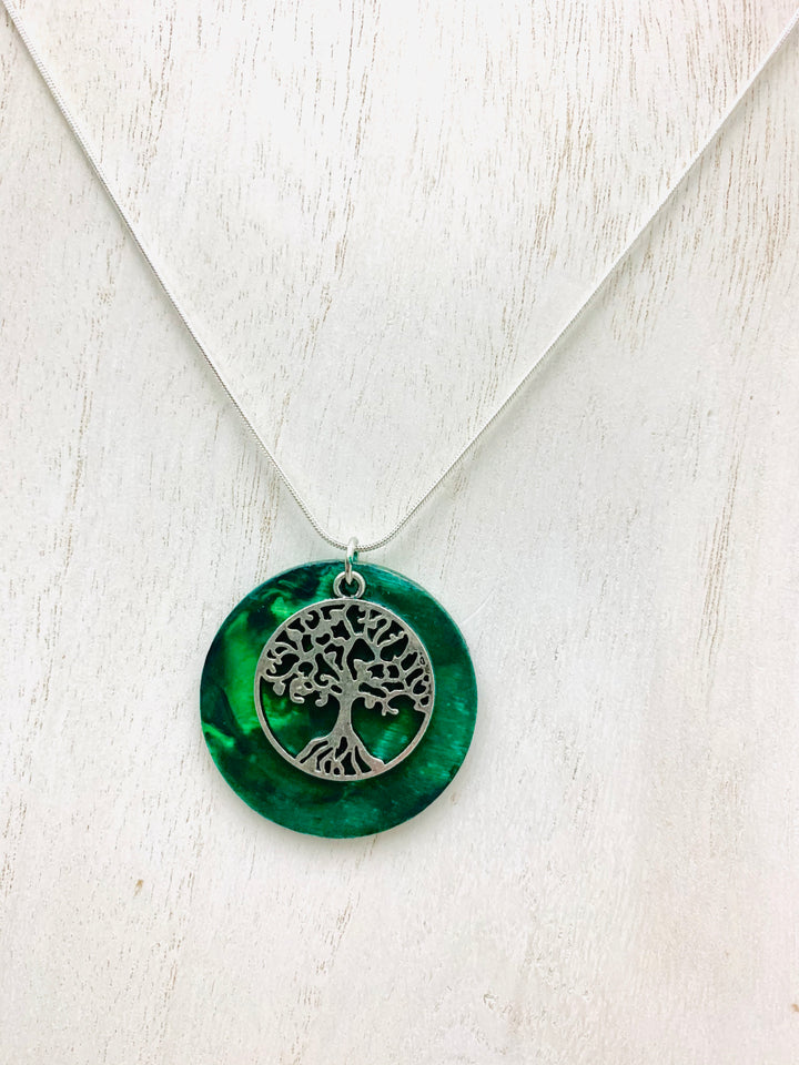 Tree of Life Necklace Encaustic - Mystery Art & Jewelry