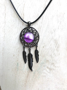 Dream catcher Silver & Encaustic Beeswax  Pendant