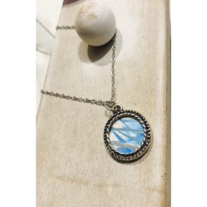 Encaustic dainty necklace 'Dreamland ' - Mystery Art & Jewelry