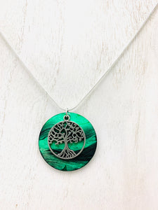 Tree of Life Necklace Encaustic