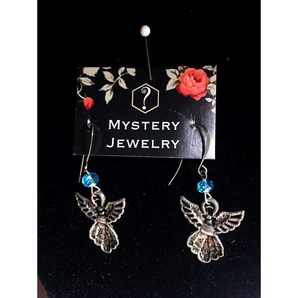 Guardian angel earrings - Mystery Art & Jewelry