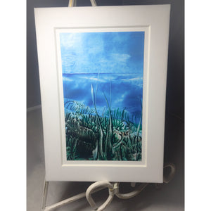 Encaustic Wax Art Painting 'Blue sky' - Mystery Art & Jewelry