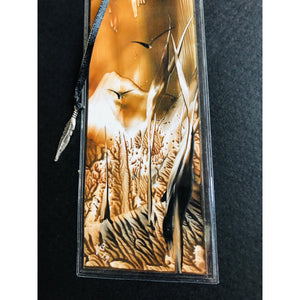 Encaustic bookmark - Mystery Art & Jewelry