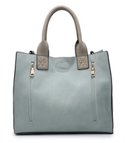 Jill 2 in 1 Conceal Carry Satchel - Grey