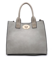 Jill 2 in 1 Conceal Carry Satchel - Light Grey