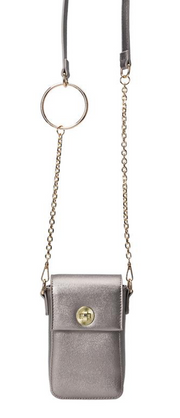 Riki Pewter Tech Crossbody