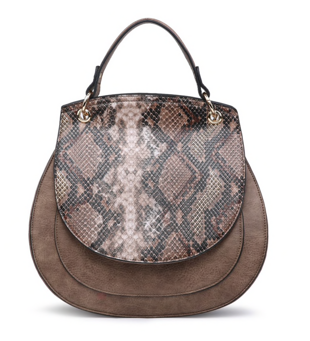 Lennox Python Saddle Bag