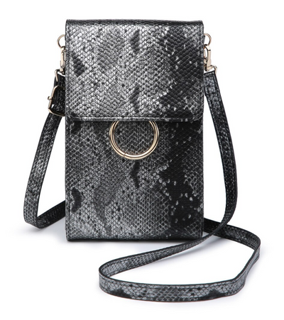 Ayla Touch Screen Crossbody - Python Gunmetal