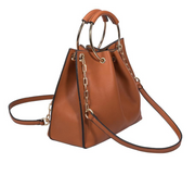 Chelsea Merlot Shoulder/Bucket Bag