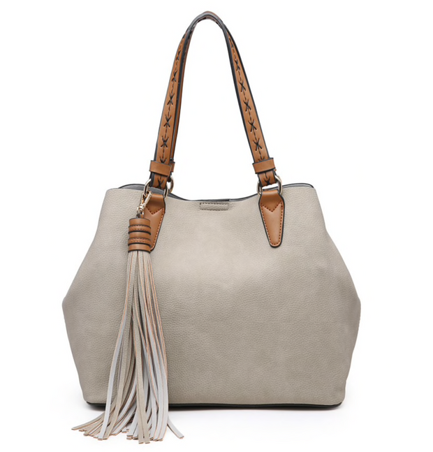 Aliza 2 in 1 Light Stone Satchel