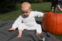 Load image into Gallery viewer, Pumpkin Name Stitch Romper
