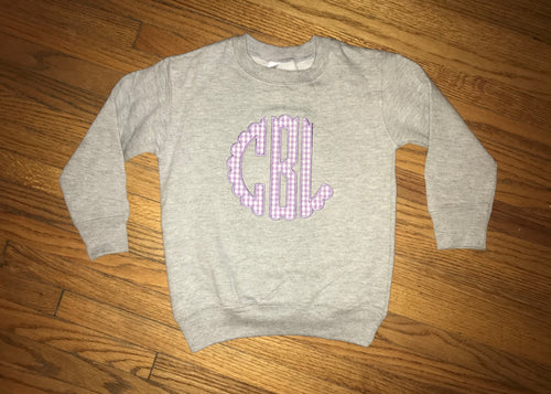 Scallop Applique Sweatshirt