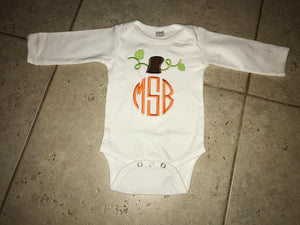 Pumpkin Monogram Bodysuit