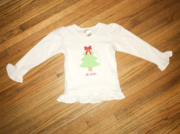 Christmas Tree Bow Shirt