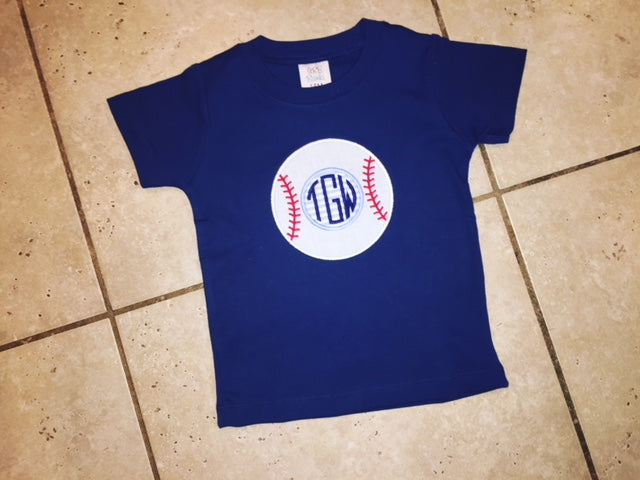 Baseball Applique T-Shirt