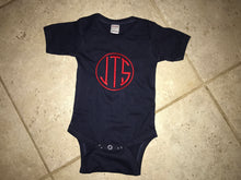 Load image into Gallery viewer, Monogrammed Navy Bodysuit