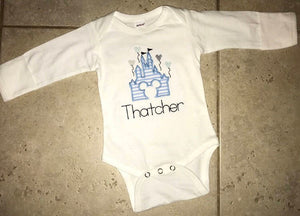 Castle Applique Bodysuit