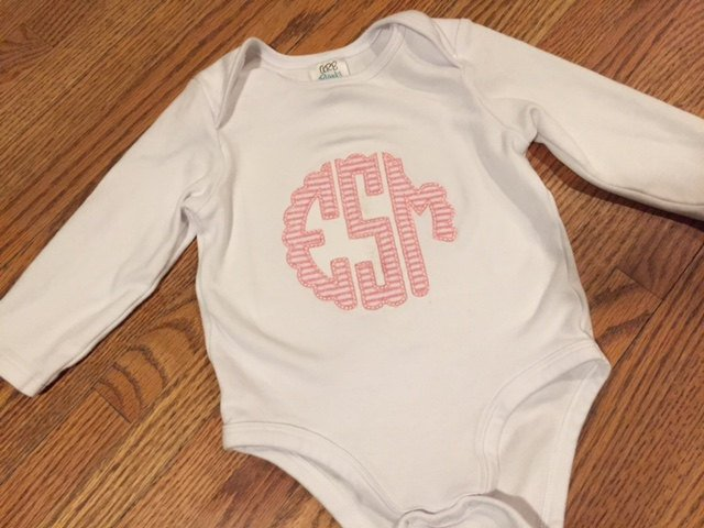 Scallop Monogram Bodysuit
