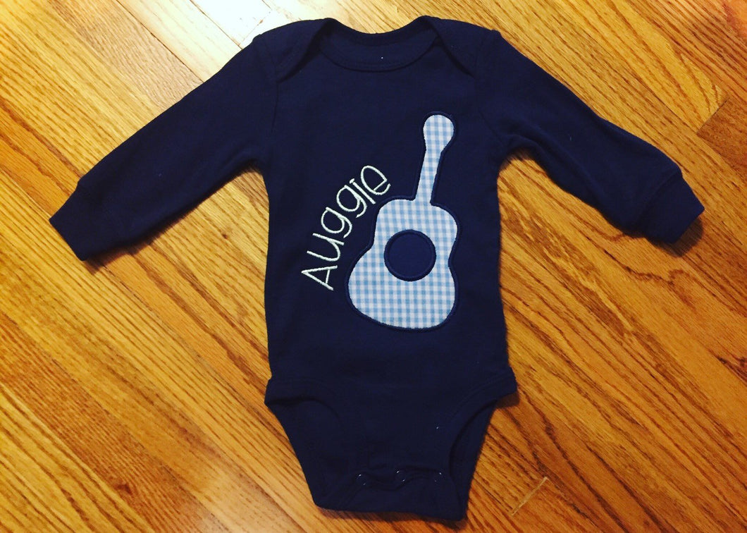 Navy Guitar Bodysuit