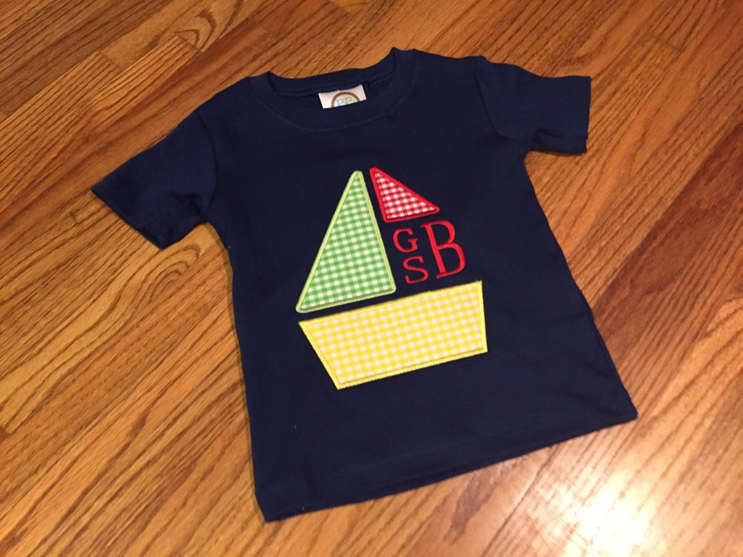 Monogram Sailboat Shirt
