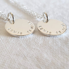 Sterling Silver Hand-stamped Pendants