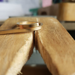 Solid gold ring being handmade
