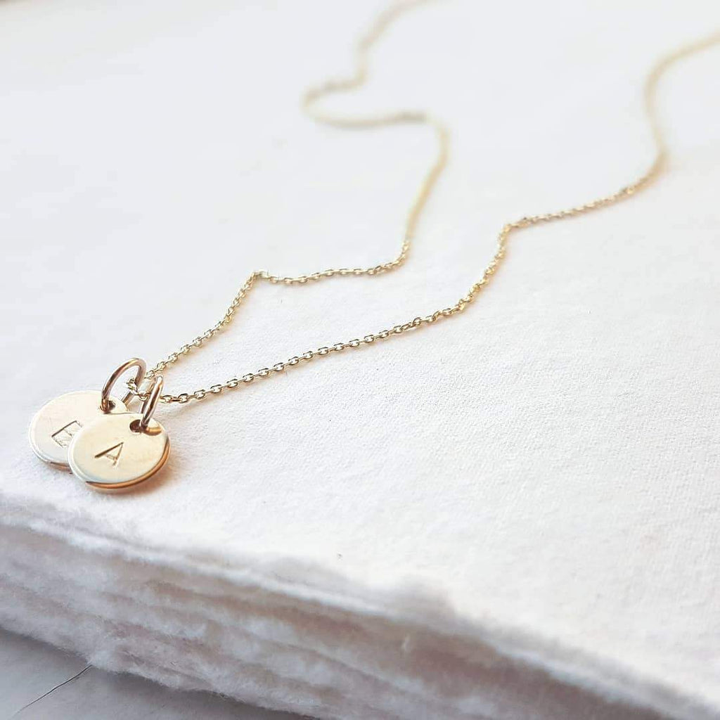 Little O- The Personalised Teeny Tiny initial necklace