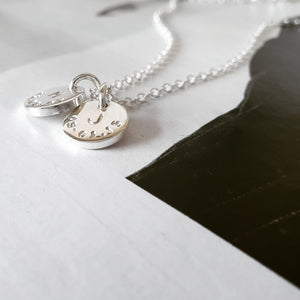 The Sun Necklace (Small) - A Personalised Initial And Date Necklace