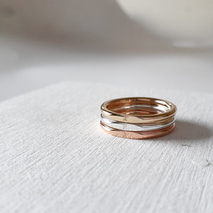 The Alya Mixed Metal Ring Stack