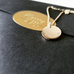 The Sun Necklace (Large) - Personalised with Roman Numerals Necklace