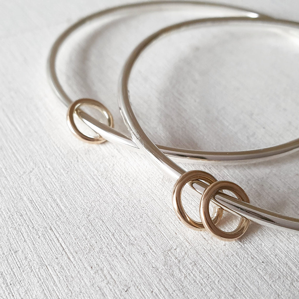 The Miram Bangle - Sterling Silver With Halos