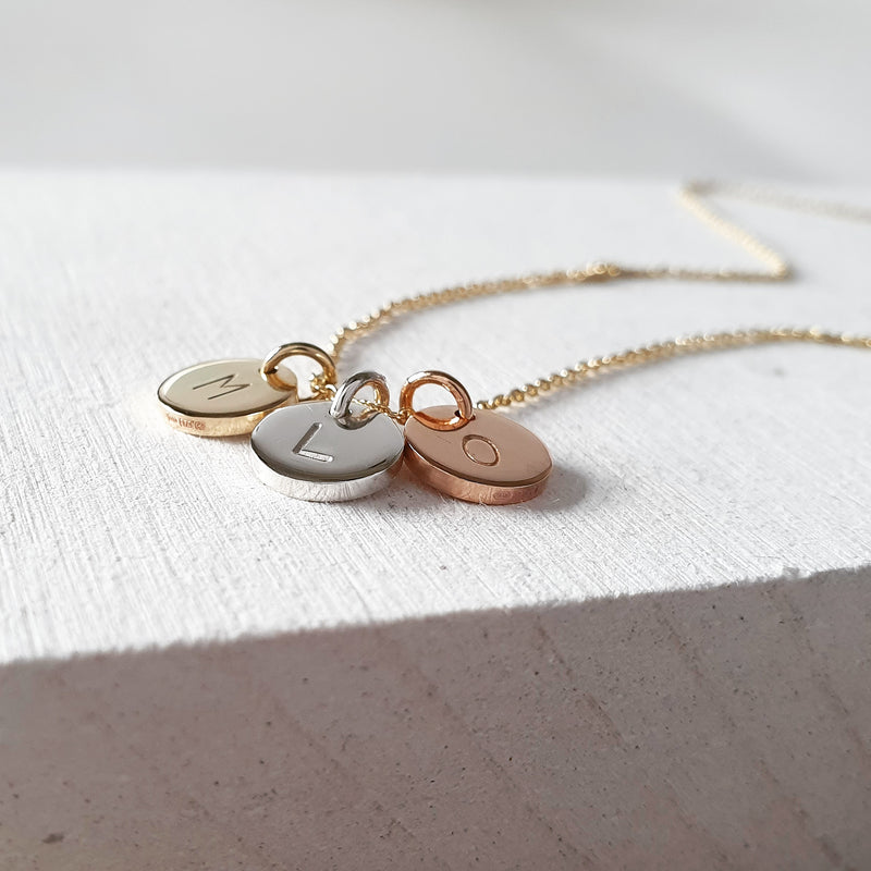 The Sun Necklace (Small) - Personalised Mixed Metal Necklace With Initials