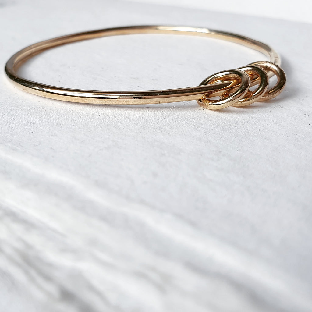 The Miram Bangle - 9ct Gold With Halos