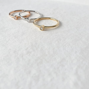 The Starlight Vega Mixed Metal Ring Stack