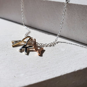 Alphabet Initials Necklace- Mixed Metal