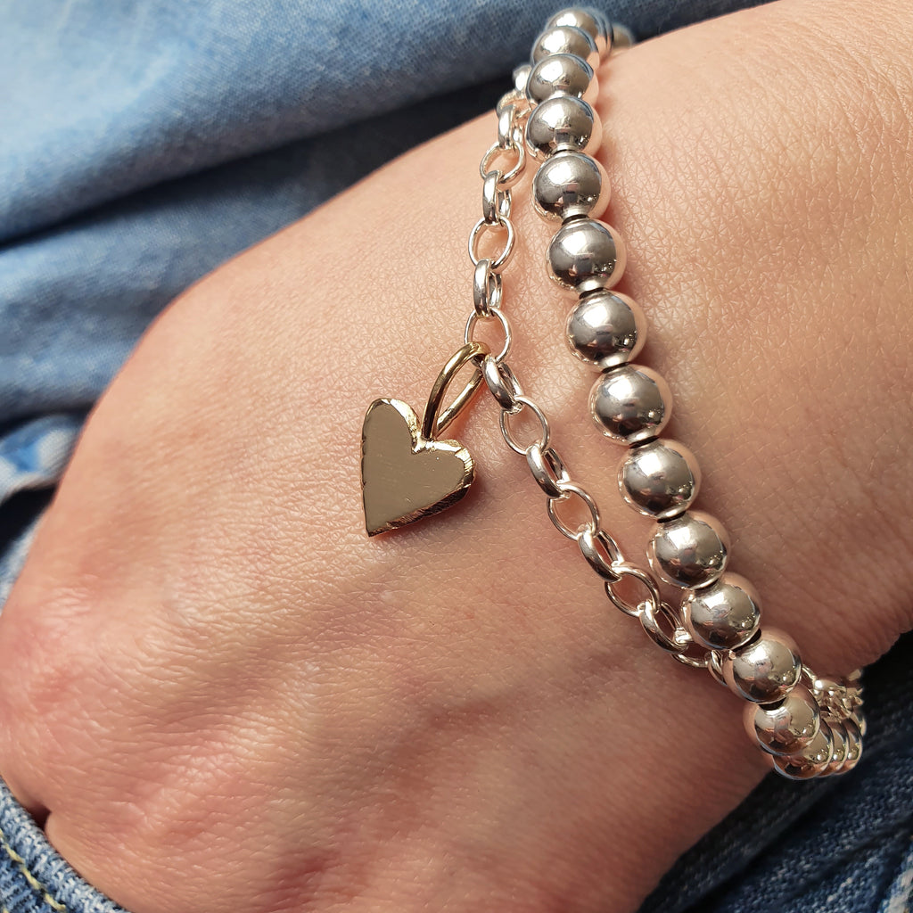 Charm Mixed Metal Bracelet