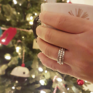 The Electra Stacking Rings Set With Heze Ring