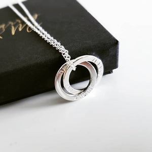 The Sarin Necklace- Personalised Interlocked Halos