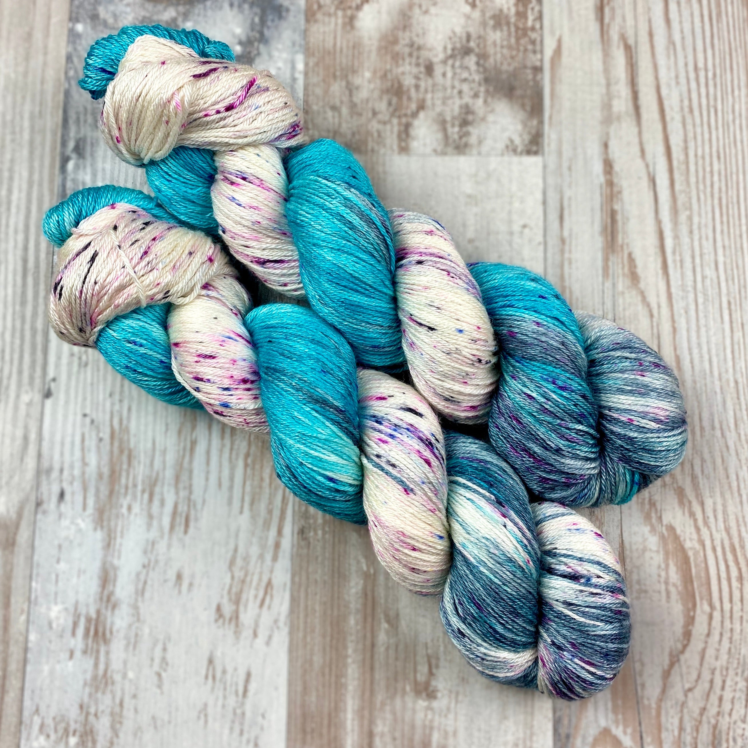 So Long & Thanks for All the Fish | 4ply BFL & Silk