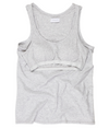 Singlet top with shelf bra