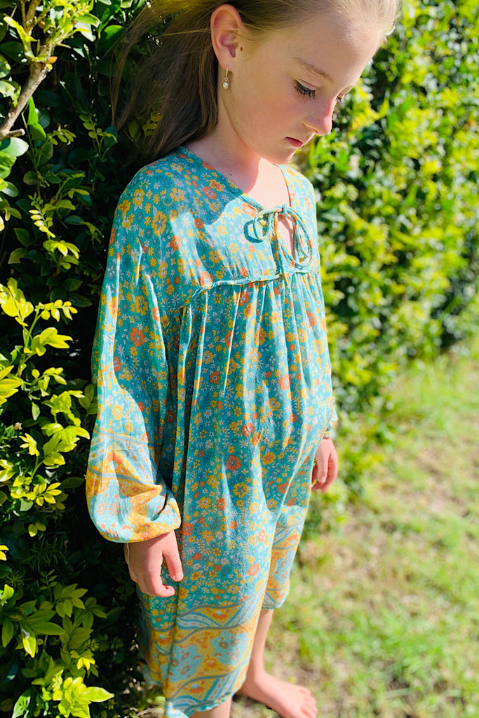 Posy fields Kids Dress- Green