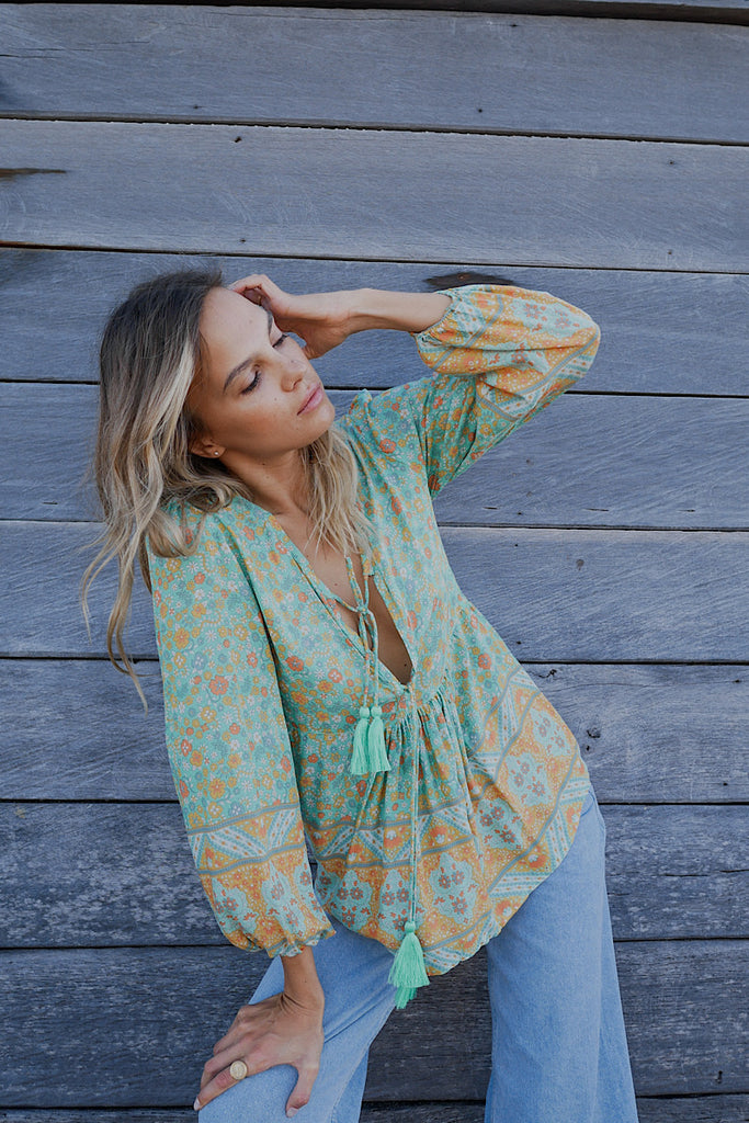 Posy Blouse - two tassel