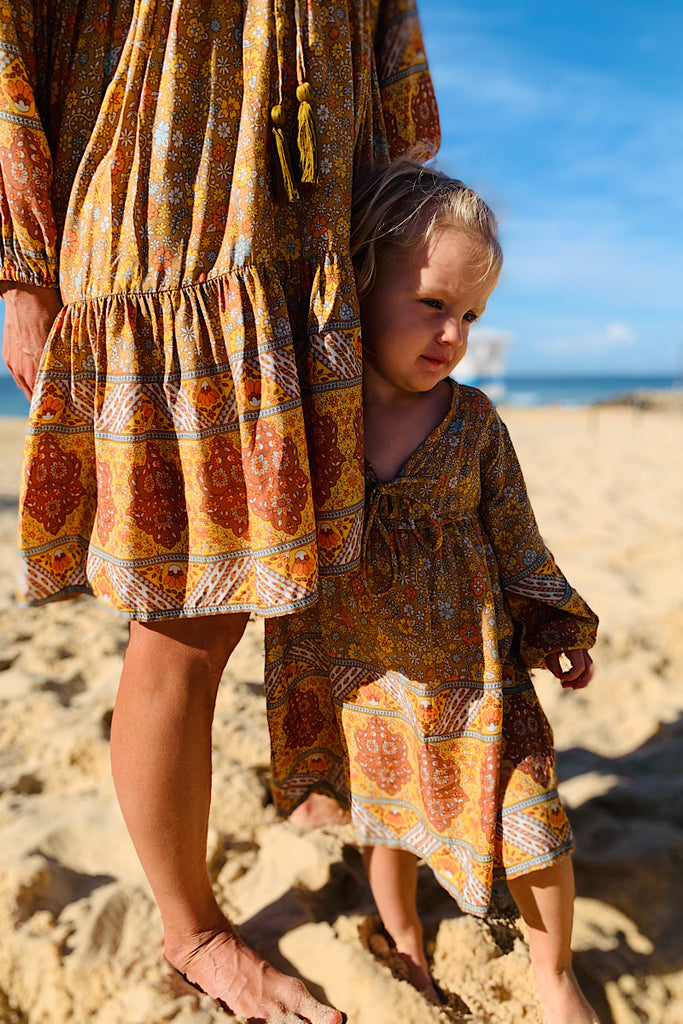 Posy Mini me Dress in autumn