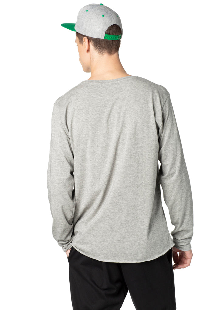 "LIMITED PRODUCTION HEATHER GREY ""CLASSIC FIT"" LONG SLEEVE SHIRT"