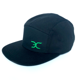 """MIDNIGHT BLACK"" STRAPBACK 5 PANEL HAT"