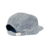 """CLOUDY GRAY"" STRAPBACK 5 PANEL HAT"
