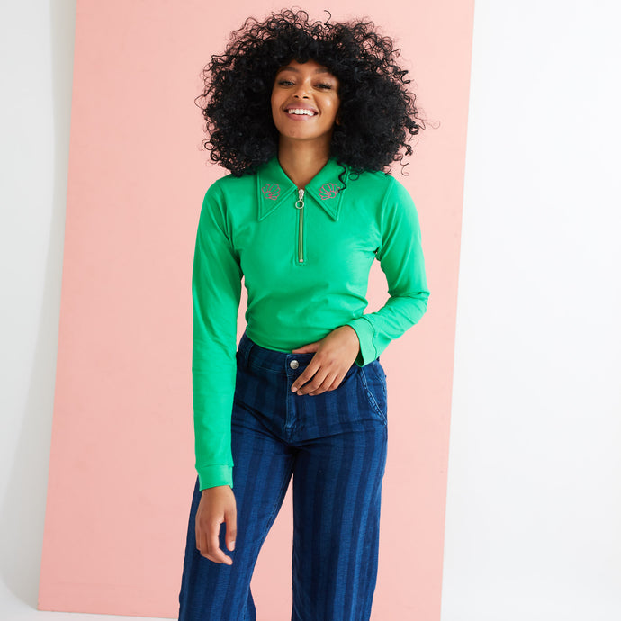 Saturday By Megan Ellaby Margot Long Sleeve Green