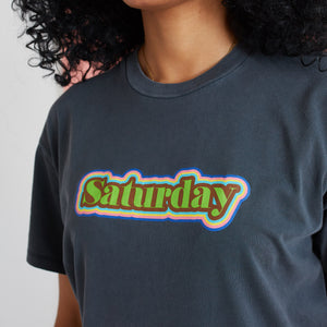 The Glitter Saturday Graphic T-Shirt